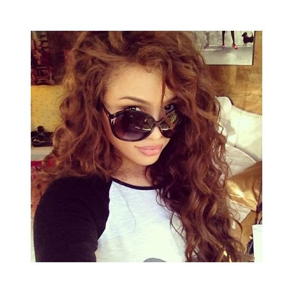 Popular Long Curly Hairstyles As Seen on TUMBLR found on Polyvore featuring polyvore