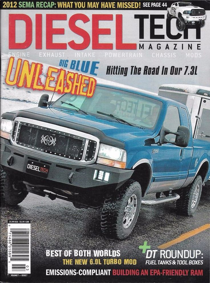 Diesel Tech magazine Big blue truck Fuel tanks and tool boxes Emissions Ram
