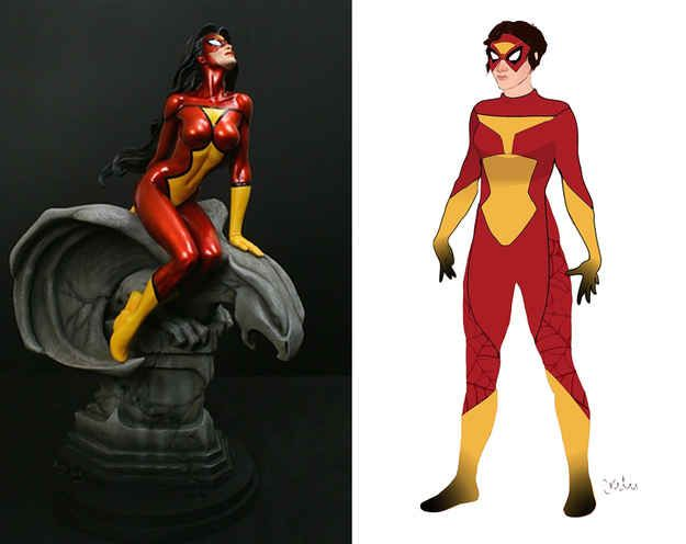 Spider-Woman | 12 Lady Superhero Costumes Redesigned By Ladies