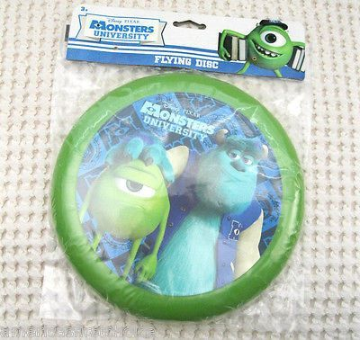 "Disney Monsters Inc. Sulley+MIKE WAZOWSKI 9"" Frisbie Flying Disc-New in Package"