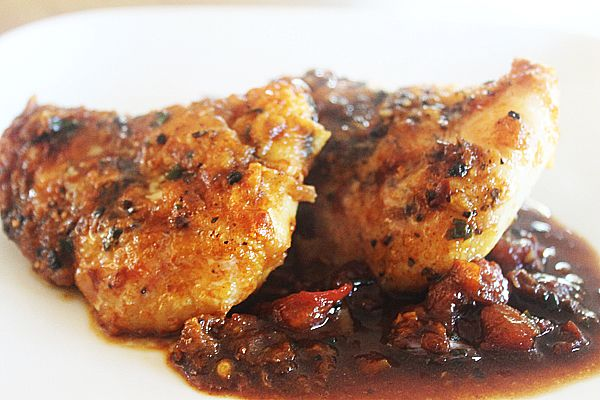 Peppered monkfish cheek with a chorizo and garlic sauce for Monk fish recipes