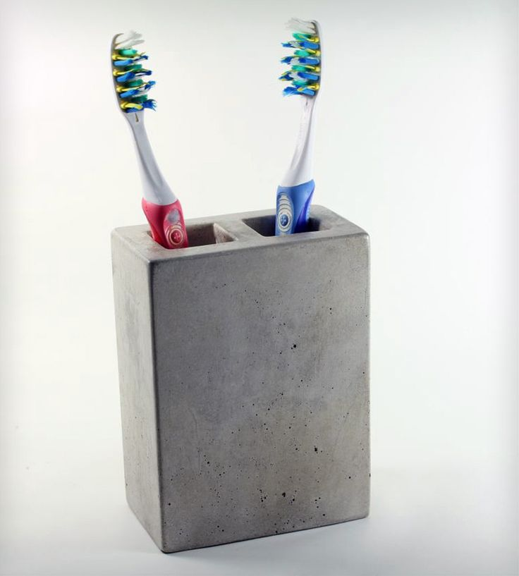 TOOTHBRUH HOLDERS | Concrete Toothbrush Holder | This toothbrush holder is finished with ...
