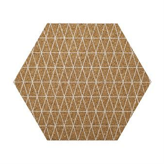 Hexagonal Cork Placemat Bloomingville Things For