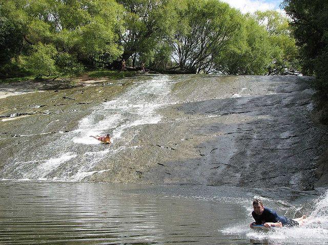 Rere rockslide - 60 meter natural slip n slide
