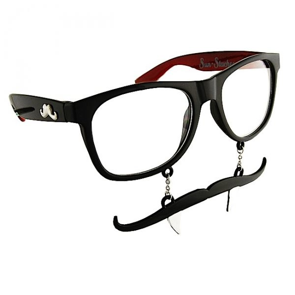 Vampire Fang Sun-Stache Novelty Glasses  Sun-Staches are all about having fun!  Suck the blood of your victims in style with this pair of Vampire Fang Sun-Stache glasses!  One Size Fits Most Ages 8+  All Sun-Staches provide 100% UV400 protection.
