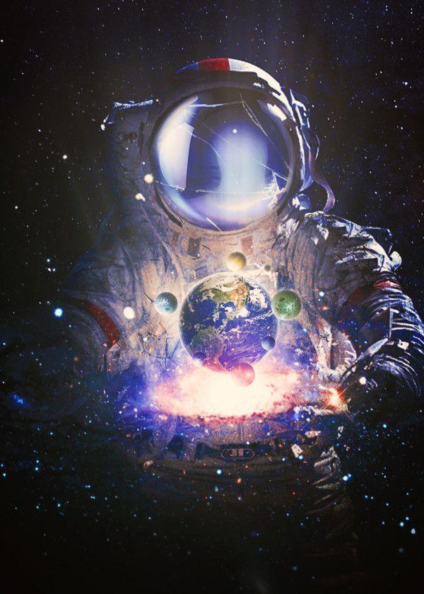 In Balance Metal Poster Seam Less Displate In 2020 Space Artwork Space Art Astronaut Art