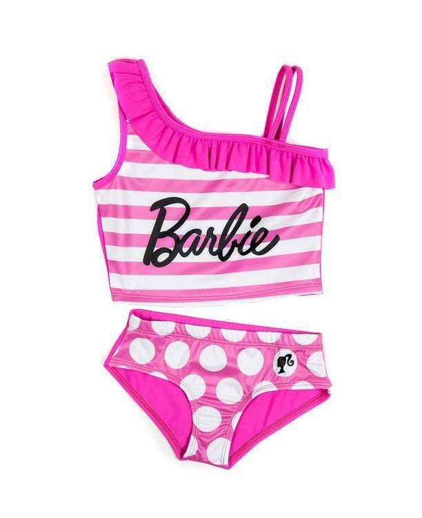 Vestido Bano Dos Piezas Nina Barbie Traje De Bano Nina Vestidos