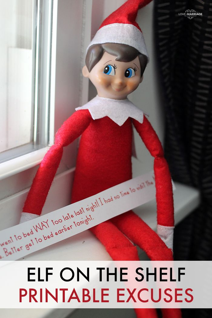 Did your Elf On The Shelf forget to move? Keep these free printable excuses handy and you will be set!