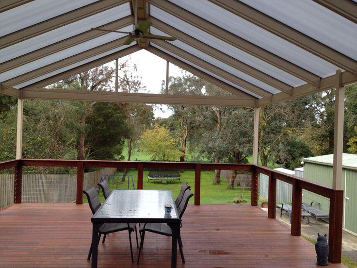Verandah with gable roof