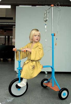 IV pole tricycle!