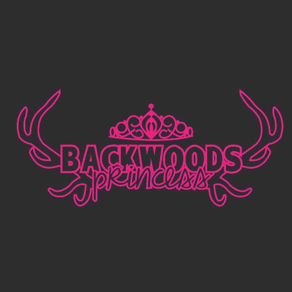Back Woods Princess Vinyl Decal Sticker Car Wall Country Girl Western Horse Mud