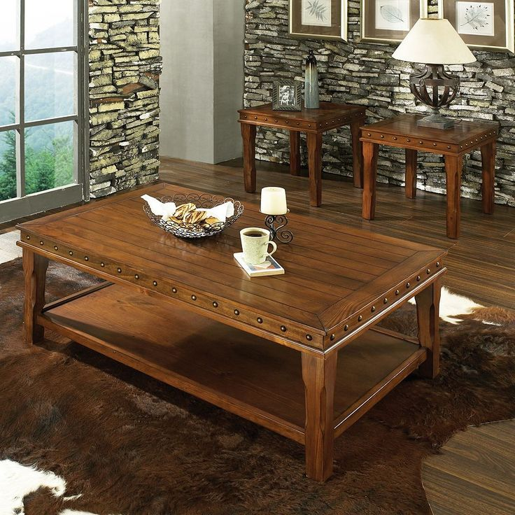 Odessa 3-piece Coffee and End Table Set, Multicolor