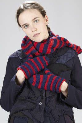 Daniela Gregis | two-tone knitted alpaca wool mittens | #danielagregis