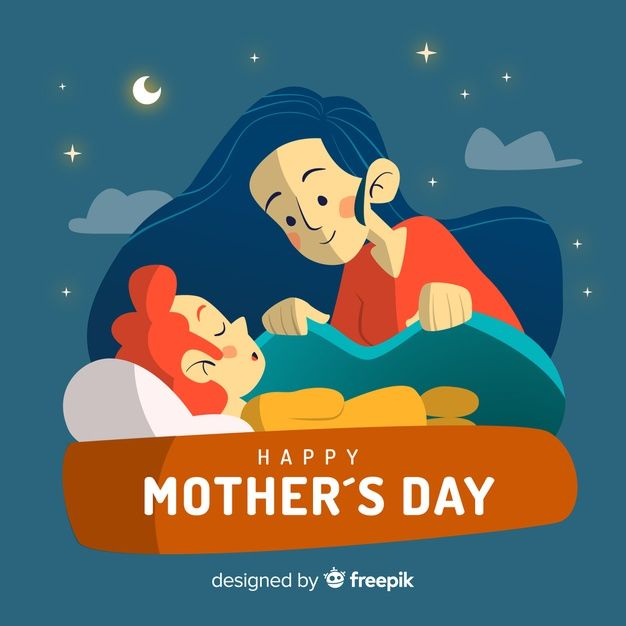 Mother Taking Care Of Her Child Mother S Day Background Kids Clipart Kids Poster Free Art