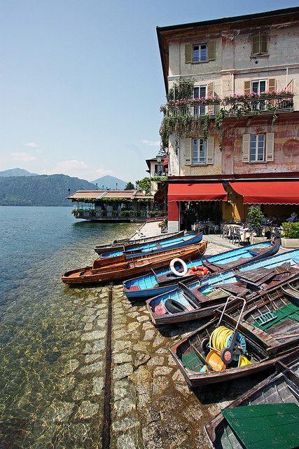 San Giulio, Lake Orta, province of Novara, Piedmont region, Italy