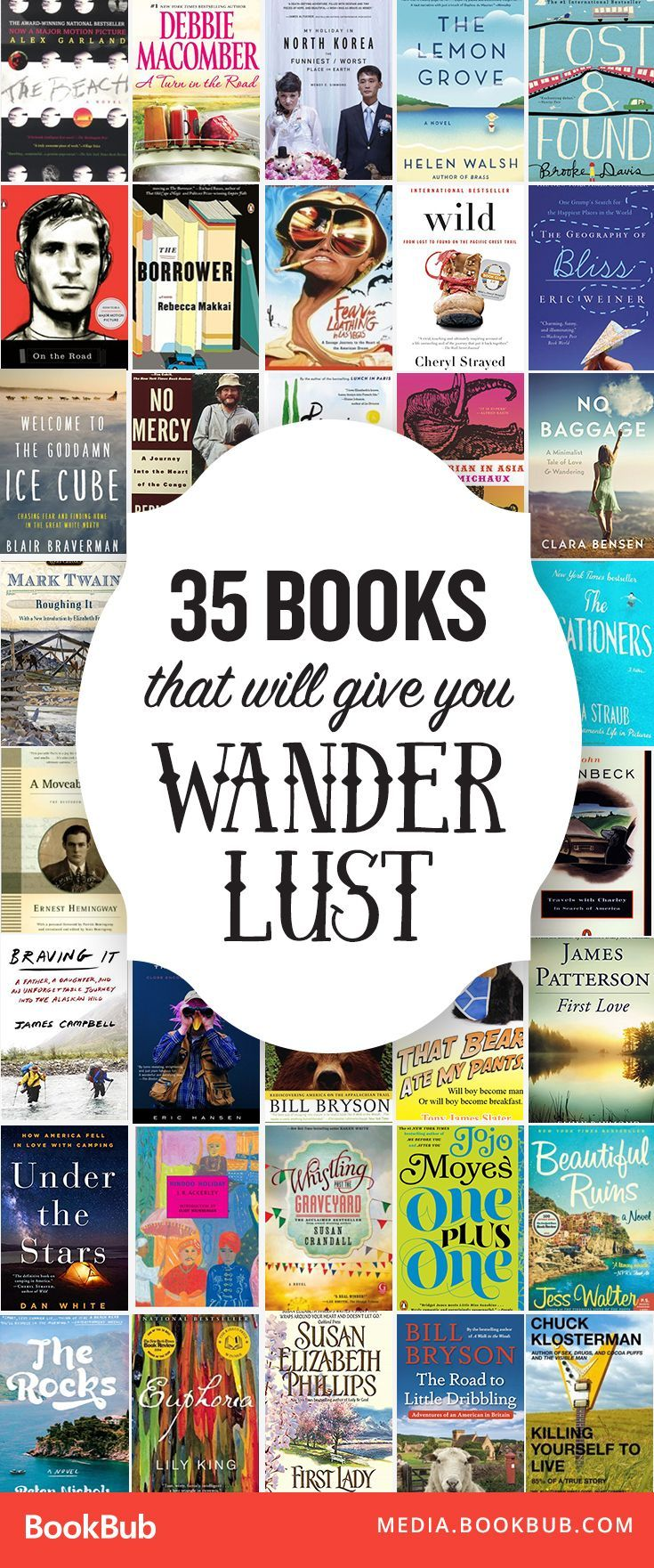 These must-read books will inspire wanderlust. Perfect books to read for women, people in their 20s, or anyone who loves to travel!