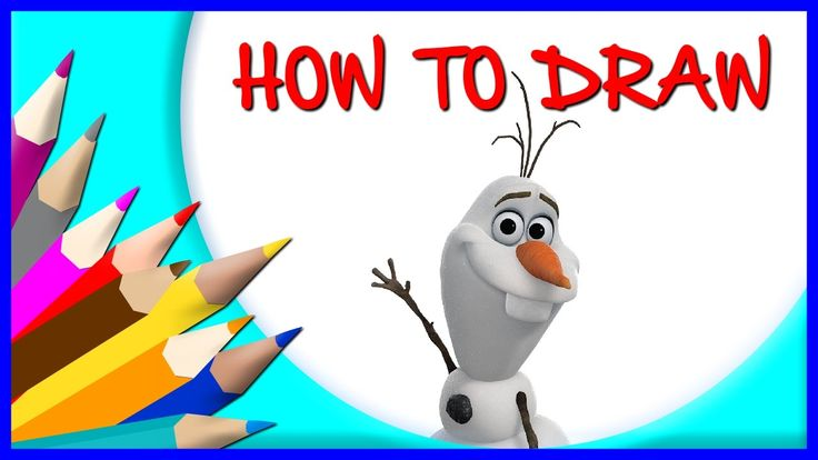 How to Draw Olaf - Frozen | Drawing Time Lapse | 853672 HTD
