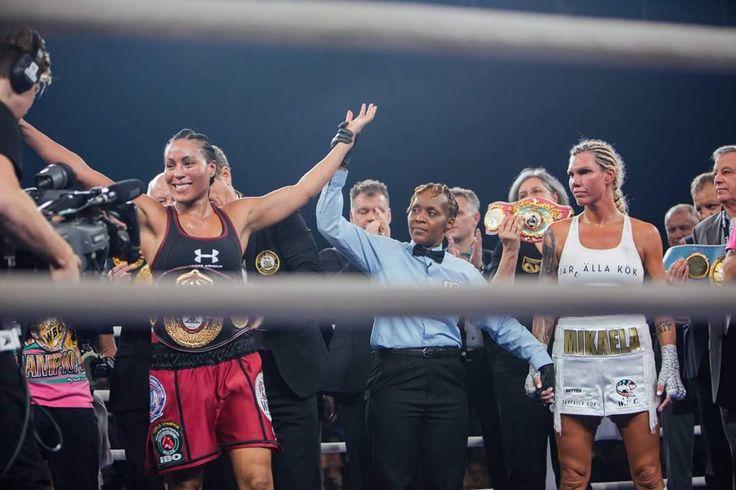 Cecilia holder det hun lover! Teknisk knock out i sjette runde. Vi gratulerer! 🥊💥