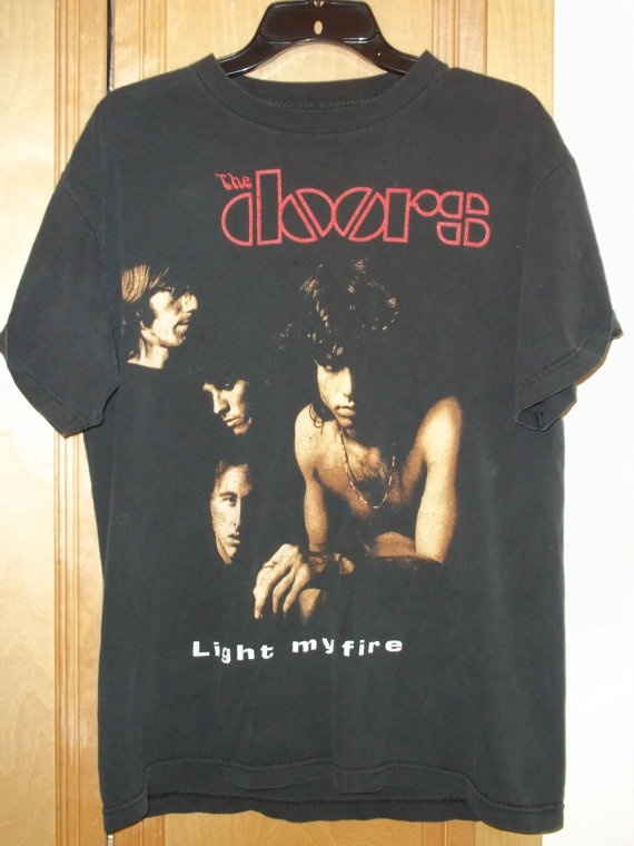 Vintage Doors  Light my Fire  black graphic t-shirt. Menu0027s approx. X-Large & 16 best t-shirts i like images on Pinterest | Conditioning ... pezcame.com