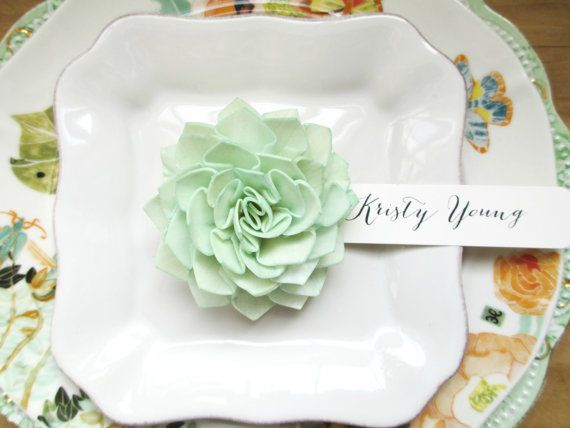 Mint Wooden Wedding Place Cards Mint Place by companyfortytwo, $3.50
