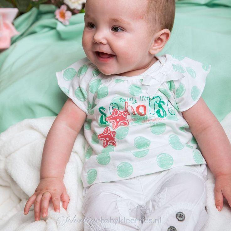Dirkje babykleding Broek Little Seahorse (wit) - Dirkje babykleding