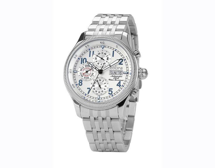 Ανδρικό Ρολόι Αυτόματο COBRA με μπρασελέ - elora-watches.gr