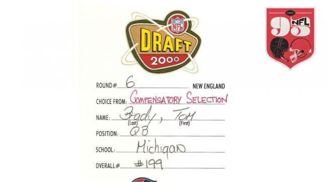 History of the NFL in 95 Objects: Tom Brady s 2000 Patriots Draft Card #new #england #patriots,nfl #95,tom #brady http://vps.nef2.com/history-of-the-nfl-in-95-objects-tom-brady-s-2000-patriots-draft-card-new-england-patriotsnfl-95tom-brady/  Tom Brady's 2000 Draft Card Pro Football Hall of Fame The MMQB presents NFL 95. a special project—unveiled every Wednesday, from May through July—detailing 95 artifacts that tell the story of the NFL, as the league prepares to enter its 95th season. See…