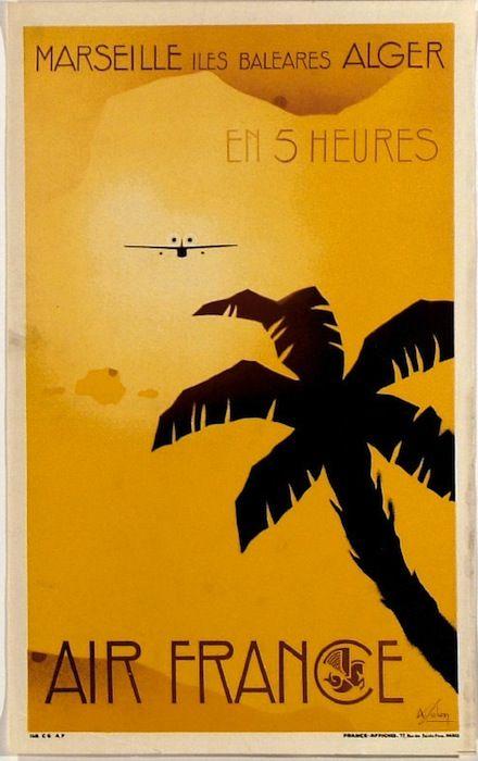 Vintage Airline Poster...