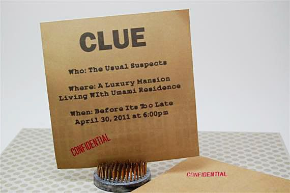 Clue themed murder mystery party.... :) might be fun for Halloween!