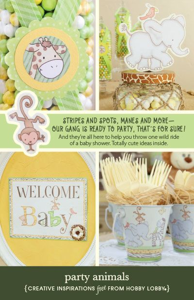 With stripes and spots and manes and more, this animal-themed baby shower idea is totally cute!