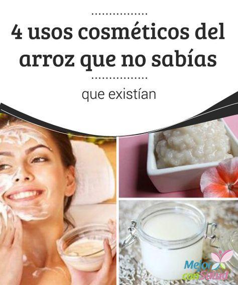 4 usos #cosméticos del #arroz que no sabías que existían  El agua de arroz puede ser una gran aliada de la salud de tu #piel. Basta con reservarla después de la cocción y aplicarla con un atomizador para aprovechar todos sus beneficios #Belleza