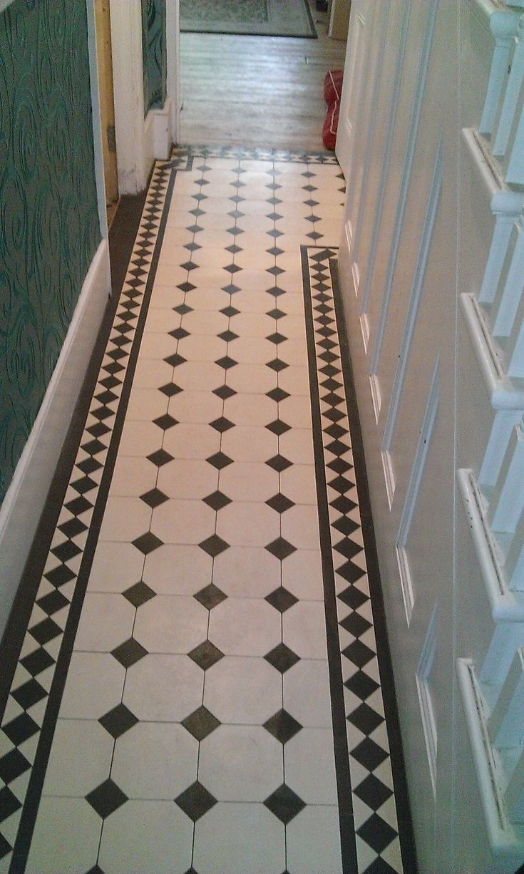 octagon tiles hallway - Google Search
