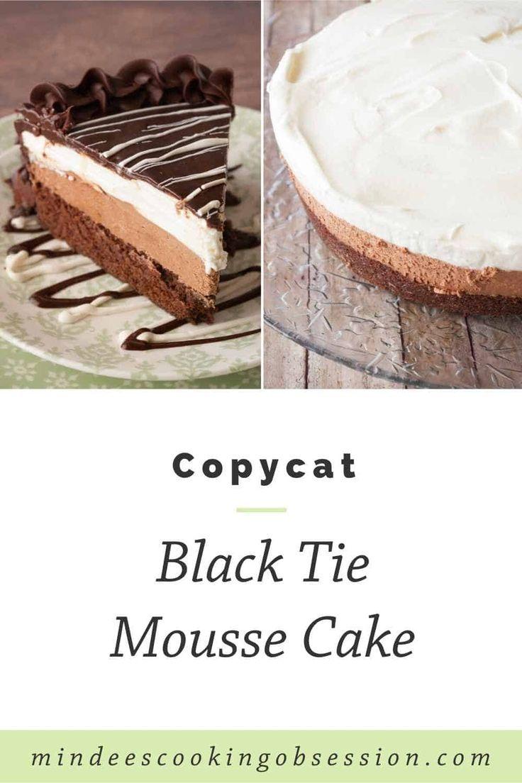 Black tie mousse cake receta en 2020