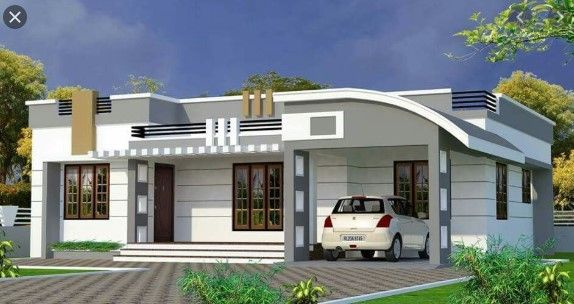 Icymi Modern Single Floor House Designs In 2020 House Roof Design Single Floor House Design Bungalow House Design