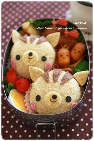 Kreative Brotbox mit zwei kleinen, süßen Pikachus aus Brot und Tomaten #liekenurkorn