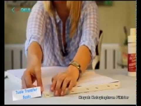 transfer baskı tekniği ile yağlı boya tablo - YouTube