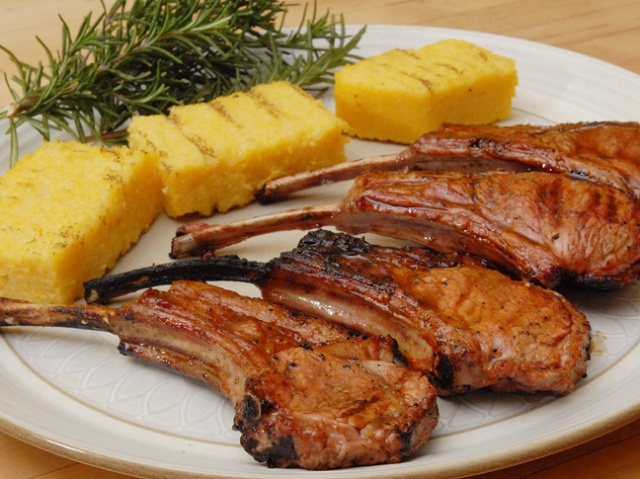 Grilled Rack of Lamb Two Ways