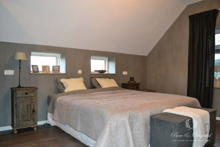 Bedroom with fresco lime paint color thunder sky picture for Interieur advies
