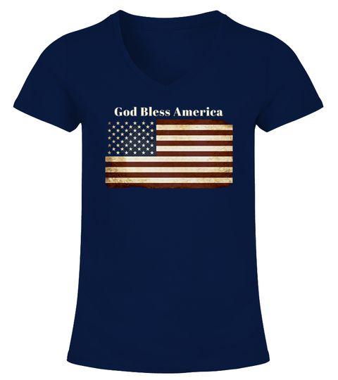 # America Christian Patriotic T Shirt .  CHECK OUT OTHER AWESOME DESIGNS HERE!TIP: SHARE it with your friends, buy 2 shirts or more and you will save on shipping.  God Bless America Patriotic Christian T Shirt, American Flag T Shirt-You'll love this vintage American flag at the center of this Patriotic Christian tee. You'll also love the bold proclamation of God Bless America! Shirts are fitted-size up!