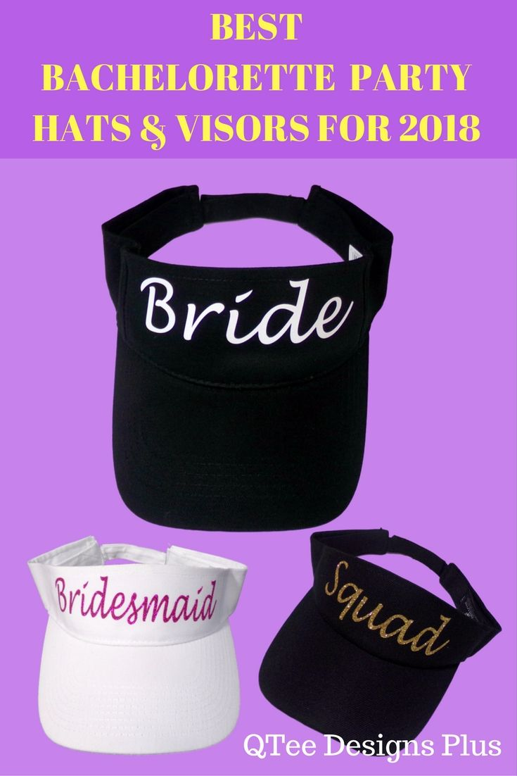 fb6f8e72010b94 Custom made bachelorette party visors. Personalized visors are also great  for your bridal shower. Visit website to see many more customization ideas.