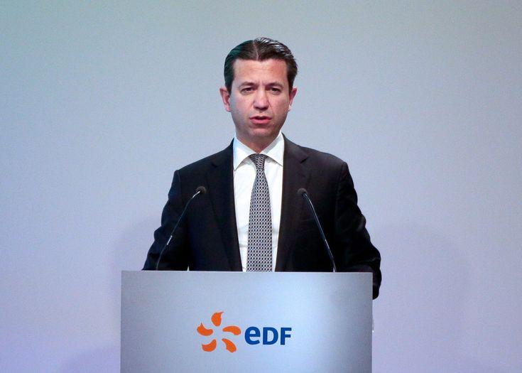 Thomas Piquemal lors de la présentation des résultats d'EDF, le 16 février 2015 à Paris.