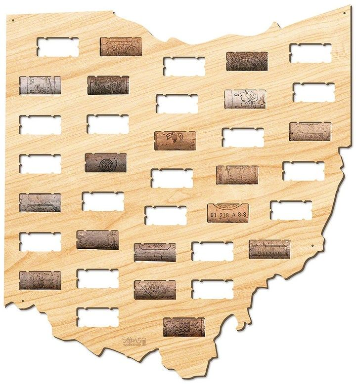 AFTER 5 Ohio Wine Cork Map