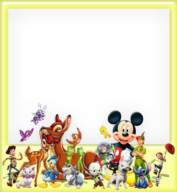 Cartoon Character Border Design : Disney journal cards pinterest