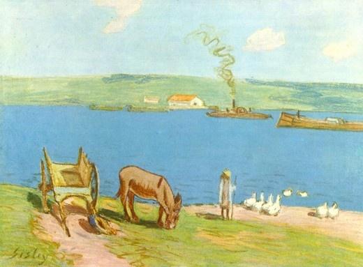 강변  알프레드 시슬레(Alfred Sisley)