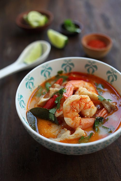 Thai Tom Yum Soup With Shrimp Spicy And Sour Just Perfect For Cold Chilly
