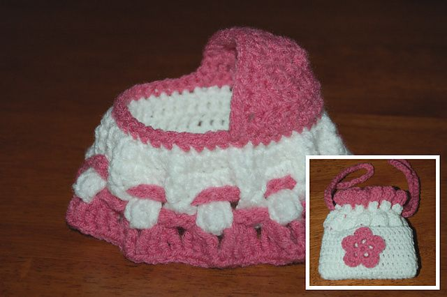 Crochet Baby Cradle Purse Pattern : FREE Pattern for Crochet Cradle Purse from Abigail Goss ...