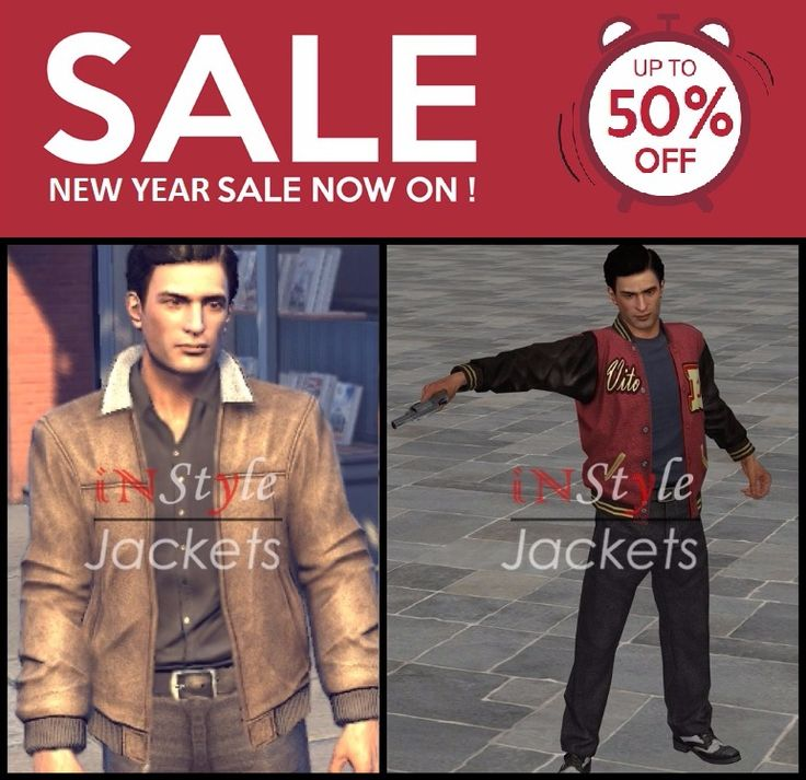 This New Year makes your own style statement with the Mafia 2 video game jackets available at Instyle Jackets. These are available in different colors and sizes. Buy one now to get a cool look...  #mensattire #mensapparel #menstyle #mensoutfit #discount #onlineshop #jacket #leather #newyearsale #newyeardiscount #newyear2016 #mafia2 #videogame #game