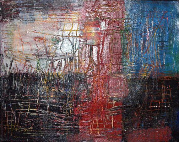 Original Rune Painting: Becker Beste No. 111, Abstract expressionist art, line art, acrylic painting, lyrical art, Berlin art, home decor