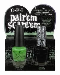 Nailpolish, Black Nails, Nails Polish, Halloween 2011, Green Nails, Scared Ems, Opi Halloween, Pairings Ems, Halloween Nails