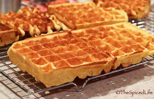 Sour Cream Waffles--with whole grain flour, ABSOLUTELY DELICIOUS!!!!!.